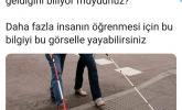 Görme Engelli – Kırmızı Beyaz Renkli Bastonu Varsa