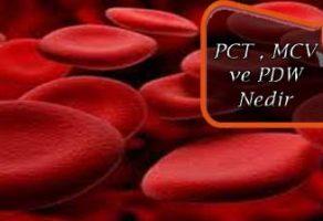 PCT , MCV , PDW Nedir